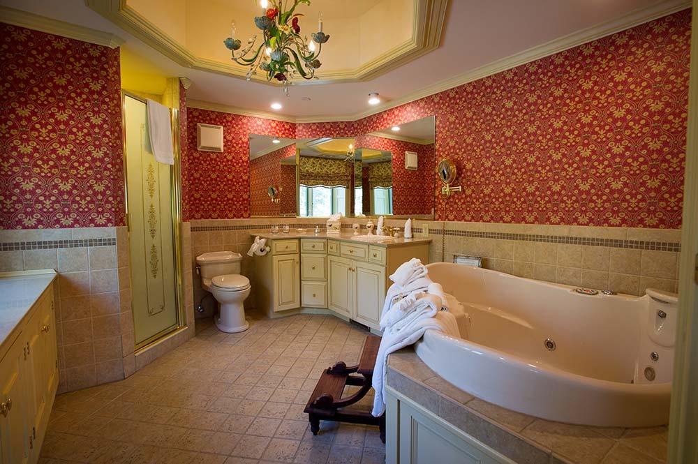Bathroom with jacuzzi tub