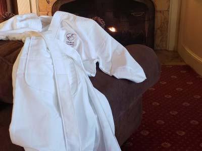 Embordered robe