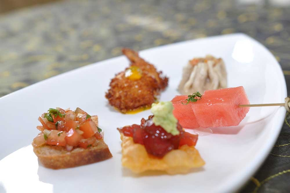 appetizers on white plate