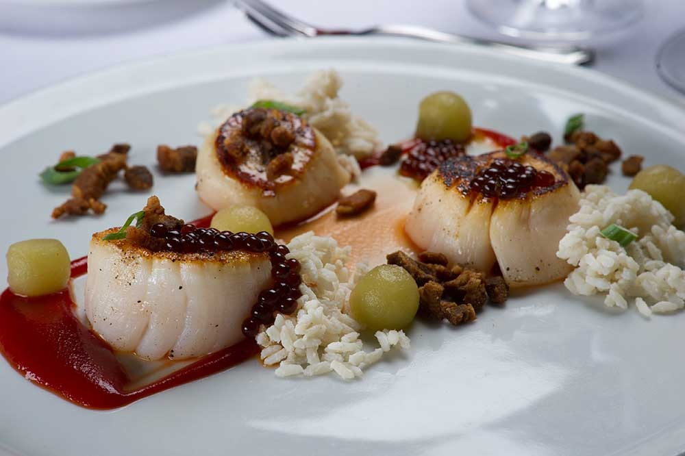 scallops on plate