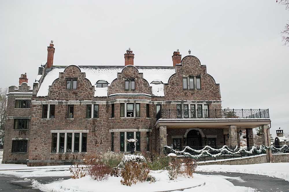 Inn of Erlowest building in winter