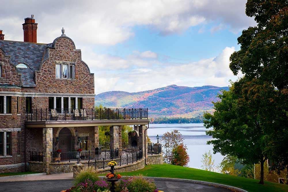 views of lake george during the fall