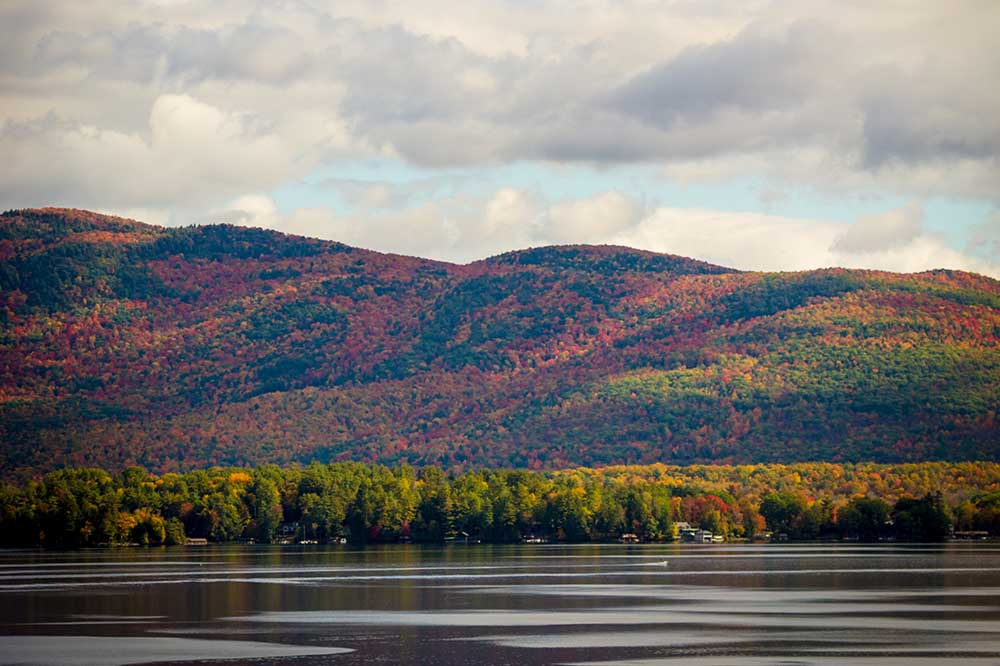lake george during the fall