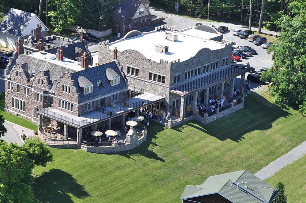 aerial view of the Inn and lawn