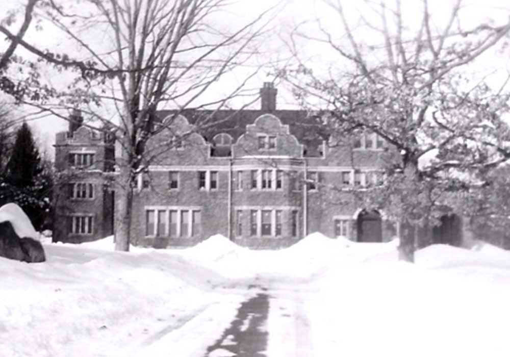 Winter view of the Inn