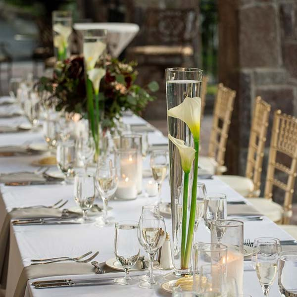 table setting on long table