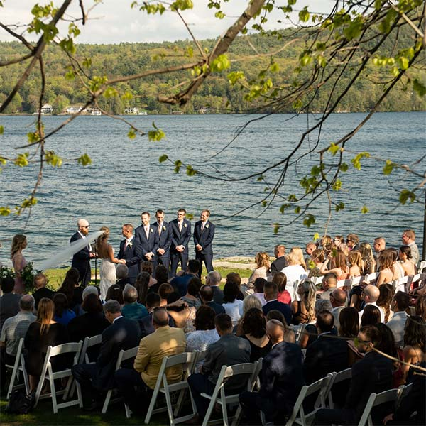 wedding on lake george