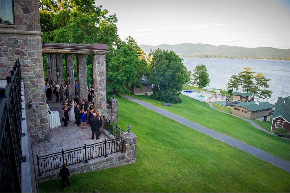 patio over looking lake george
