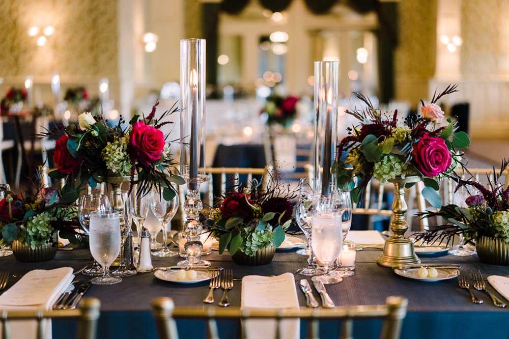 wedding table placings