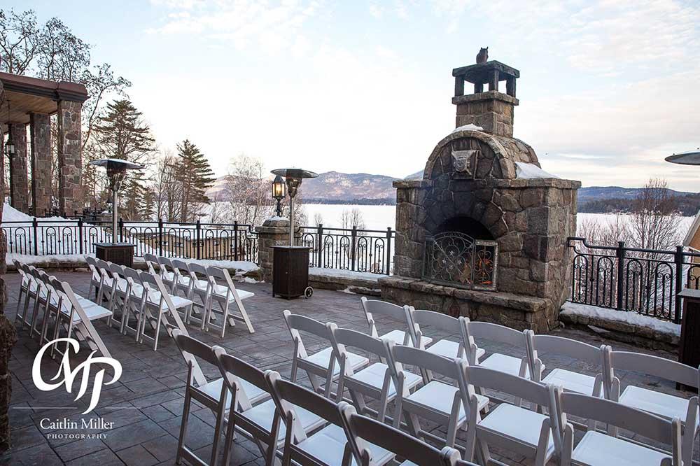 patio setup for wedding reception
