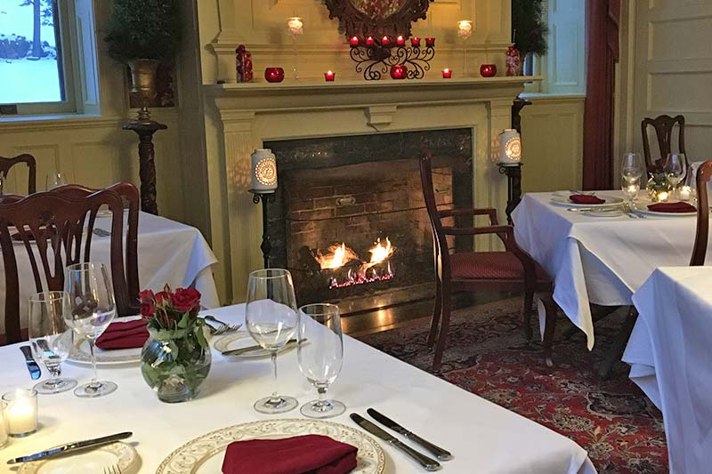 Table side fireplace