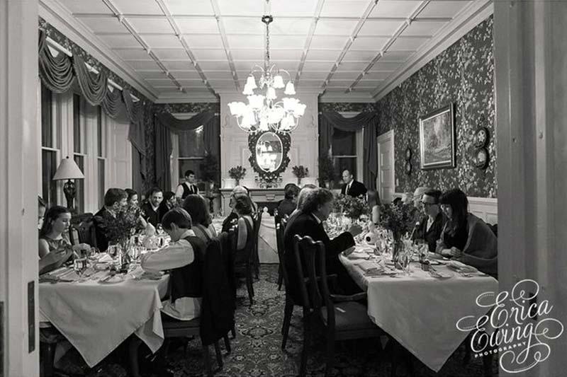 Wedding reception in dining room