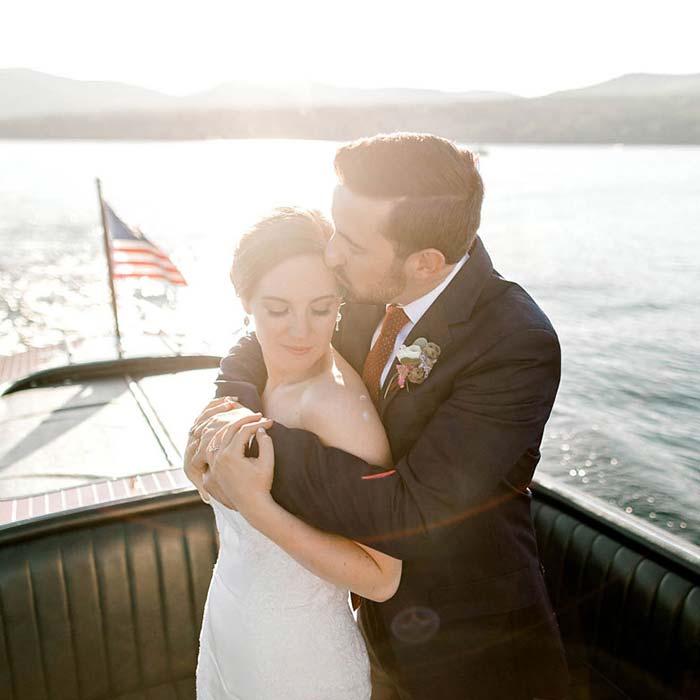 Wedding Couple on boat