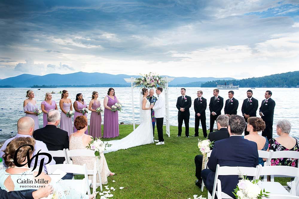 Wedding on shores of lake george